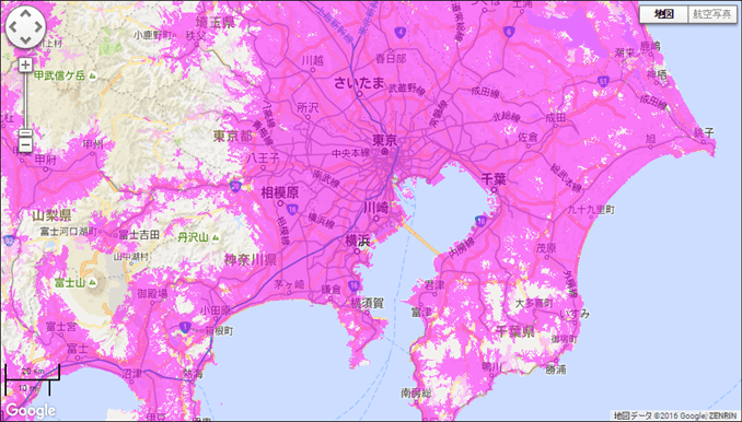 WiMAX(UQ WiMAX)- WiMAX 2+エリア